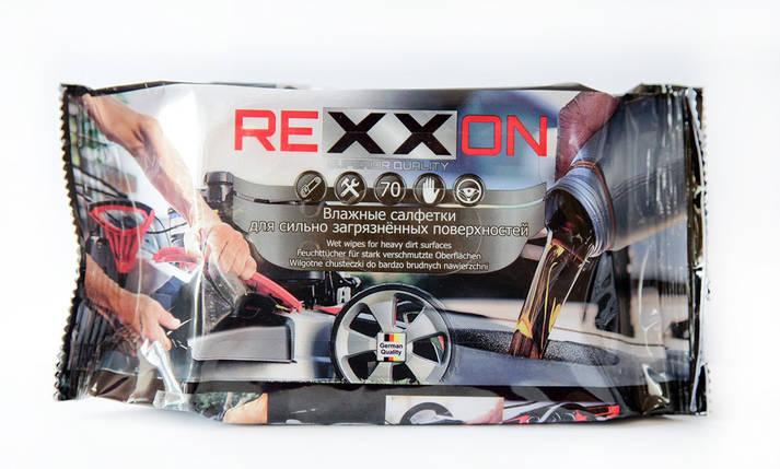 Влажные салфетки Rexxon для сильно загрязненных поверхностей 70 шт (2-1-2-0-0), фото 2