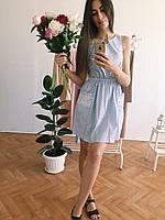 Летнее платье с пышной юбкой в горох, фото 1