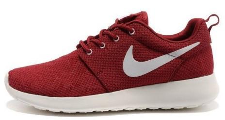 """Женские кроссовки Nike Roshe Run """"Burgundy"""" (Найк Роше Ран) бардовые"""