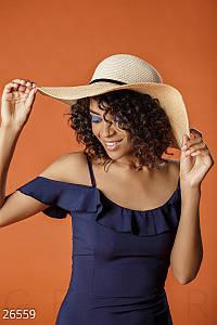 Соломенная шляпа Gepur Sweet Simple широкополая, пляжная шляпа, шляпка