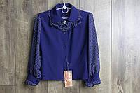 Шифоновая блузка для девочек. 122- рост.