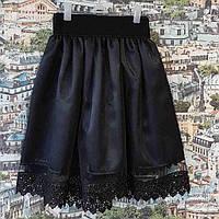 Нарядная юбка Адель р.122-146, чёрный