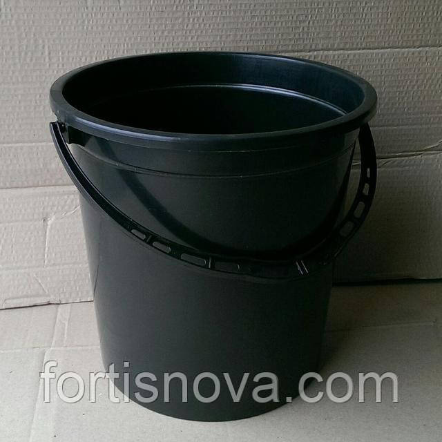Ведро пластиковое черное 16,5 литра