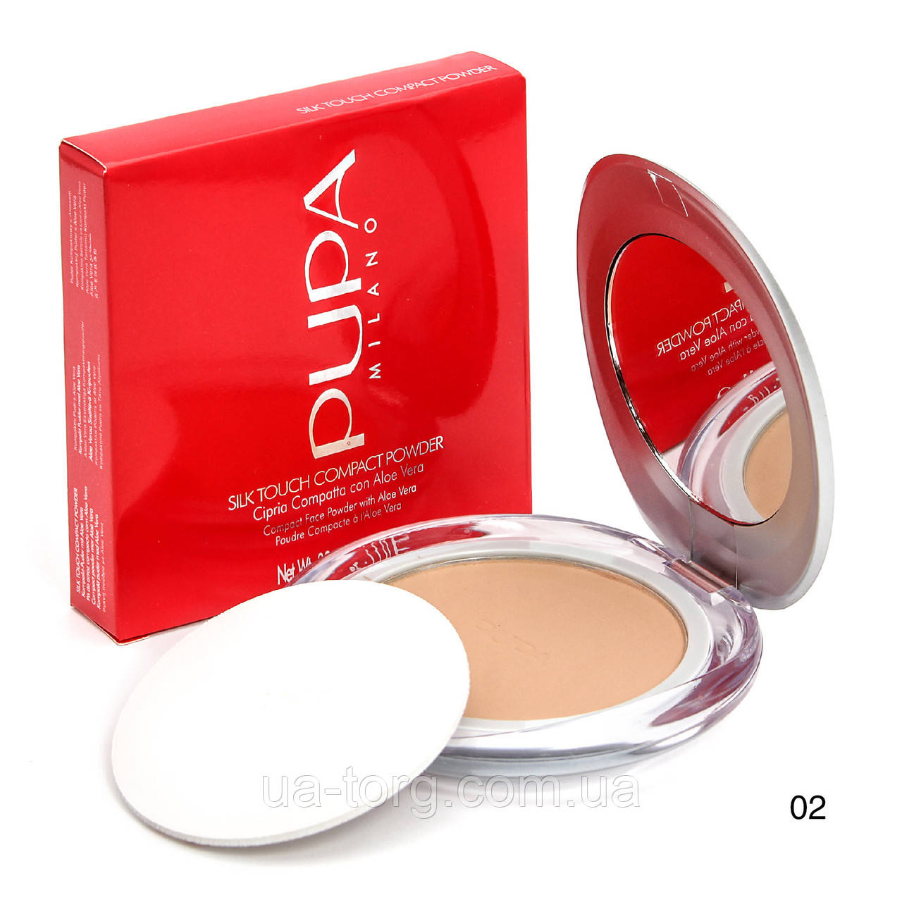 Компaктнaя пудрa Pupa Silk Touch Compact Powder  №2