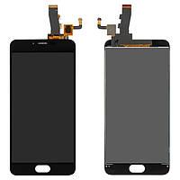 Дисплей для Meizu M5, M5 mini, с сенсорным стеклом, черный, оригинал