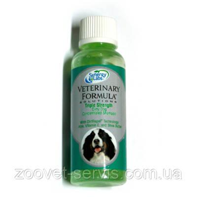 Концентрированный грязеотталкивающий шампунь для собак ТРОЙНАЯ СИЛА Veterinary Formula Triple Strength Dirty D