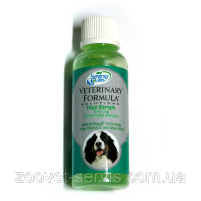 Концентрированный грязеотталкивающий шампунь для собак ТРОЙНАЯ СИЛА Veterinary Formula Triple Strength Dirty D, фото 2