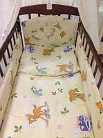 Детский постельный набор в кроватку + держатель для балдахина