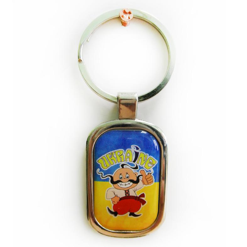 """Брелок для ключів металевий з українською символікою """"Ukraine"""""""