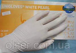 Перчатки нитриловые неопудренные Unigloves Белый Перламутр
