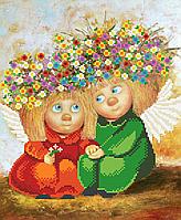Схема для вышивки бисером Влюбленные Ангелы