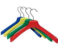 Плечики широкие пластиковые цветные