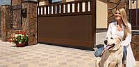 Откатные ворота Алютех ADS 400 комбинированное заполнение, фото 1