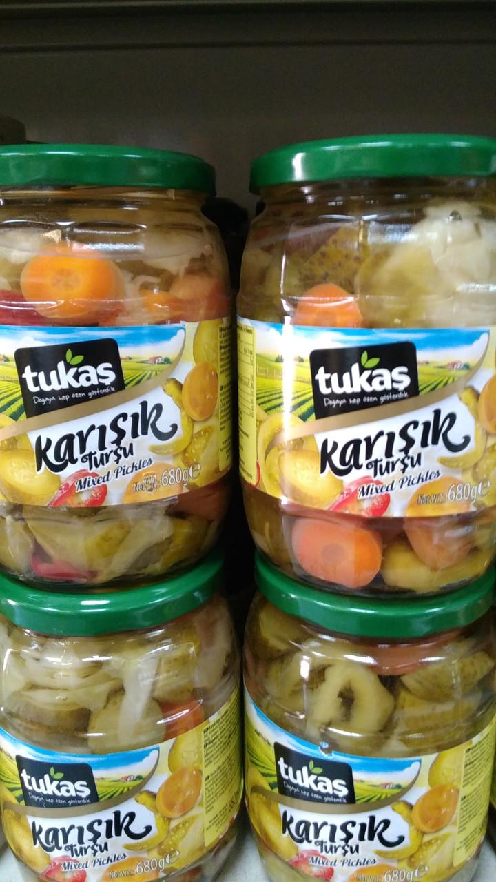 Овощи TUKAS KARISIK TURSU (овощи маринованные)  670 г