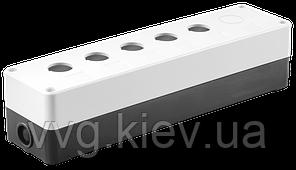 Корпус КП105 (6) для кнопок 5 (6) мест белый IEK
