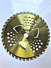 Нож для бензокосы с победитовыми напайками 255х25.4 мм ТВС-40 зубов Gartner