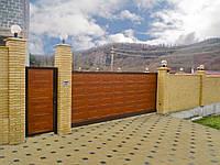 Откатные ворота Алютех ADS 400 с калиткой , фото 1