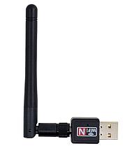 WiFi USB портативный адаптер с антенной, 150Mbps
