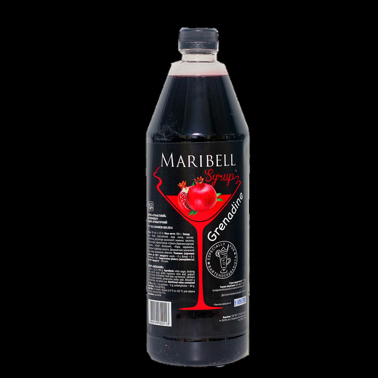 "Сироп коктейльный Maribell  ""Гренадин"" 1л ПЭТ"