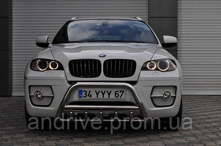 Защита переднего бампера (кенгурятник) BMW X5/X6 E71 (2007-2014)