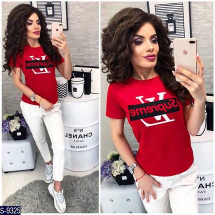 Красная футболка с надписью, фото 2