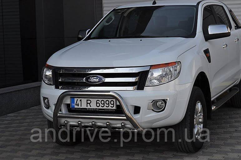 Кенгурятник (защита переднего бампера) Ford Ranger 2012+