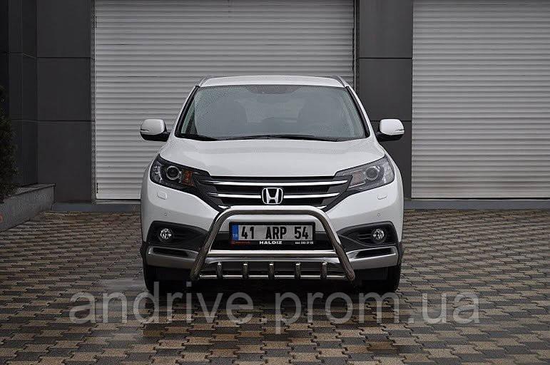Кенгурятник с грилем (защита переднего бампера) Honda CR-V 2012-2015