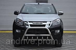 Кенгурятник с лого (Защита переднего бампера) Isuzu D-Max 2012+
