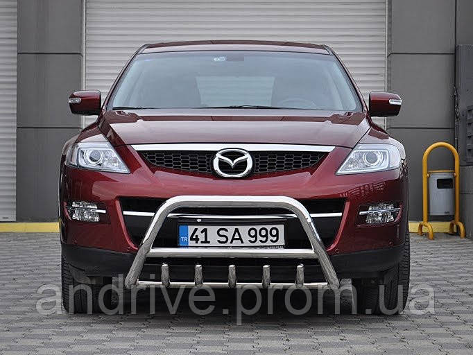 Кенгурятник с грилем (защита переднего бампера) Mazda CX-9 2006-2012