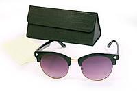 Солнцезащитные очки UV400 с футляром Черные (F8007-2)