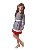 Платье  детское с длинным рукавом   М -982  рост от 98 по 134