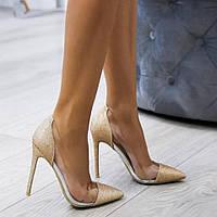 Женские туфли золото.серебро,блестящие