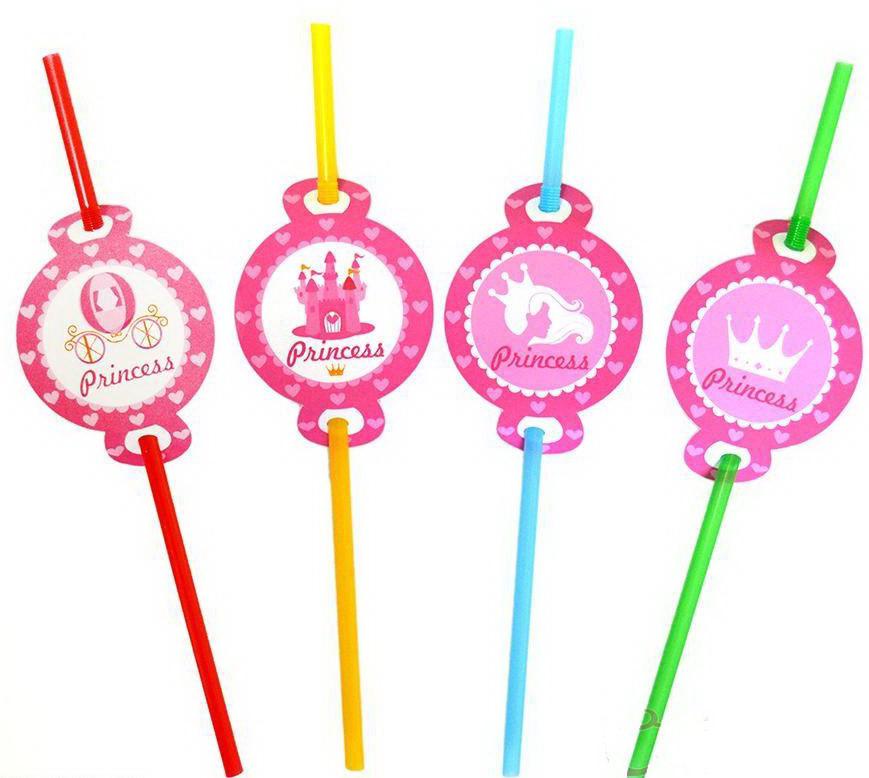 Трубочки з гофрою Принцеса 8 штук