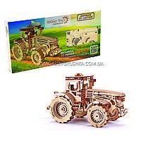 Бесплатная доставка. Деревянный конструктор Wood Trick Трактор.Техника сборки - 3d пазл
