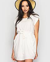 Женское белое летнее платье (732 br)