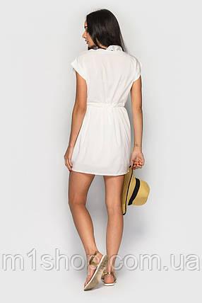 Женское белое летнее платье (732 br), фото 2
