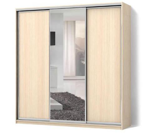 Шкаф-купе Стандарт трехдверный фасады ДСП + зеркало + ДСП, фото 2