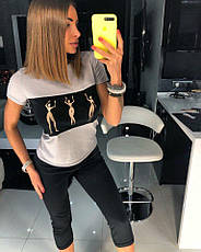 Женский костюм футболка и бриджи , фото 2