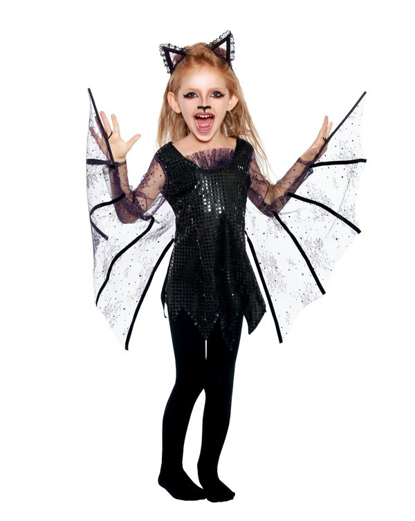 Карнавальный костюм Летучая мышь для девочки, костюм на хэллоуин   Pur -  2049 - Satori 94434f24758
