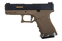 Пістолет WE Glock 19 Force pistol T6 Metal Black GBB