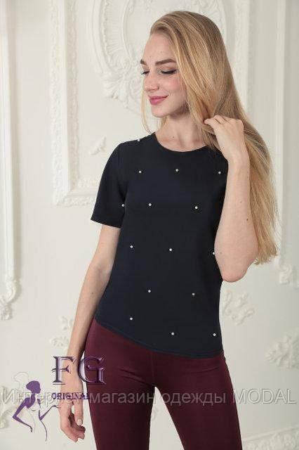 310a37453d0 Летняя женская блузка с бусинами - Интернет-магазин одежды MODAL в Киеве