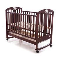 Детская кроватка Baby Care BC-435M темный орех