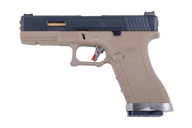 Пістолет WE Glock 17 Force pistol Metal Tan GBB