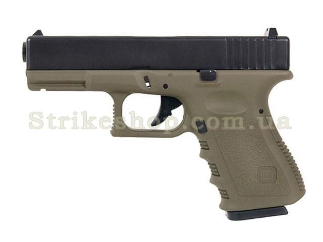 Пістолет Glock 32 KJW Metal Olive Green Gas