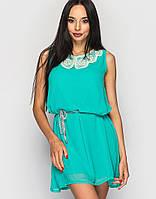 Женское летнее бирюзовое платье (804 br)