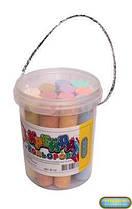 Дитячий крейда кольоровий, крейду, набір кольорової крейди у відерці 12 шт, асфальтний, розмір крейди 2 х 10 см, В-12