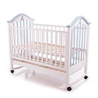 Детская кроватка Baby Care BC-440M бело-голубая