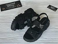 Спортивные сандалии женские в черном цвете