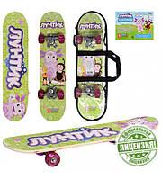 Детский скейт, скейтборд LT 0028 Лунтик (60х15см)