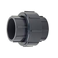 Муфта ПВХ Aquaviva разборная клей-клей, диаметр 63 мм